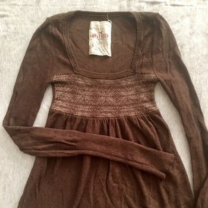 Hollister baby-doll style long sleeved shirt